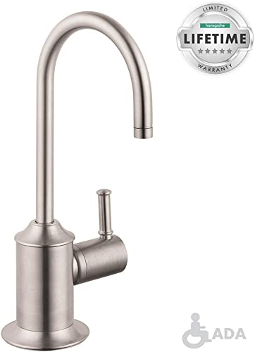 hansgrohe 04302800 Talis C 9-inch Tall 1-Handle Cold Water Filtration Faucet in Stainless Steel Optic