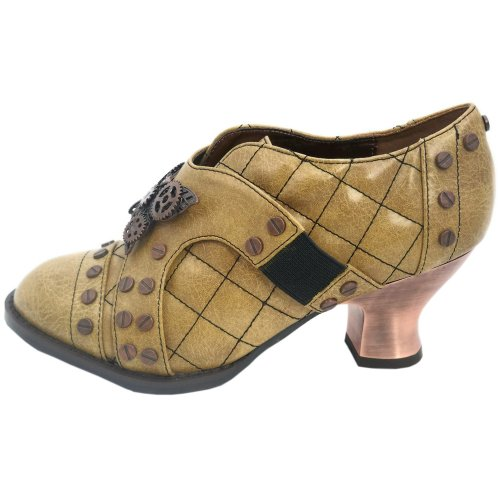 Hades Womens Icon Steampunk Oxford Shoe Mustard