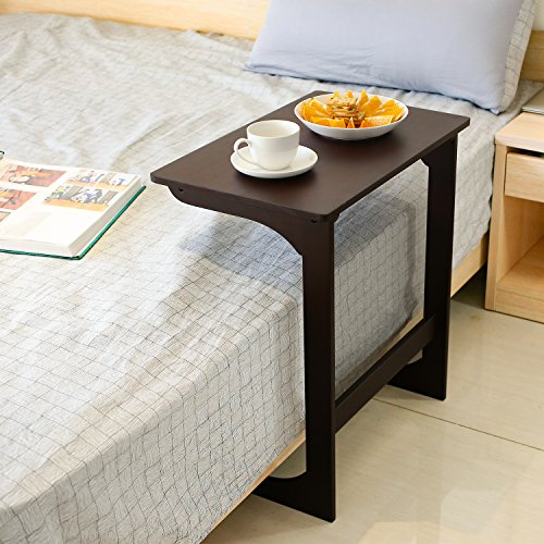 Homfa Bamboo Snack Table Sofa Couch Coffee End Table Bed