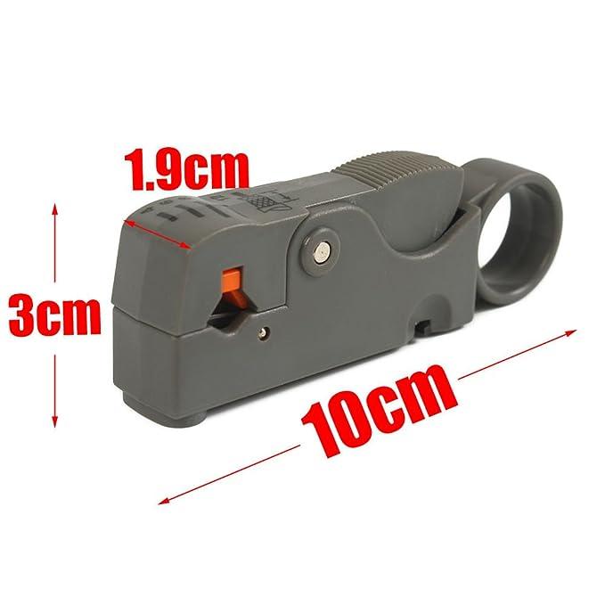 nuzamas F-Type compresión crimpadora pelacables herramienta de mano Set Rotary Cable Coaxial crimpadora pelacables alicates de corte cortador de RG59 RG6 ...