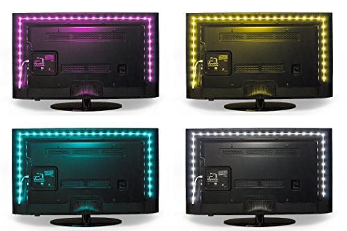 Luminoodle-Color-Bias-Lighting-for-TV-USB-LED-Backlight-RGB-Adhesive-Strip-for-Flat-Screen-HDTV-LCD-LED-Desktop-Monitors-for-Ambient-Lighting