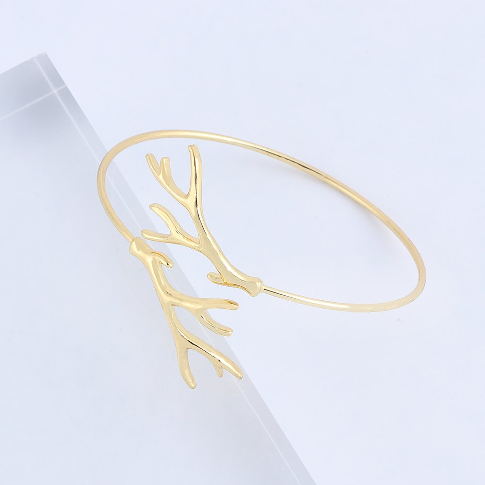 BEICHUANG Antler Openness Cornu Cervi Cuff Bangle Bracelet Gifts for Nature Lovers