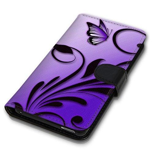 Wallet Book Style Flip Handy Tasche Case Schutz Hülle Schale Motiv Etui für Apple iPhone 6 Plus / 6S Plus - Design Flip MV255