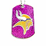 NFL Minnesota Vikings Glitter Dog Tag