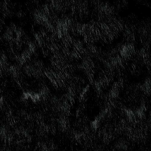 Shannon Luxe Faux Fur Sheared Rabbit Black Fabric by the Yard