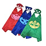 Superhero PJ Mask Matching Capes & Masks Pack for Cosplays, Costumes Parties & Birthdays 51uUcdXhHgL