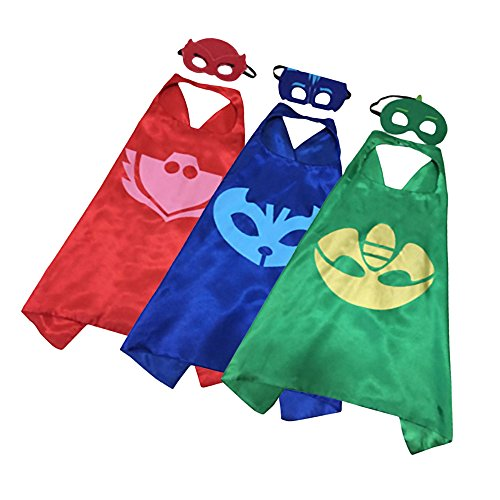 Superhero PJ Mask Matching Capes & Masks Pack for Cosplays, Costumes Parties & Birthdays 51uUcdXhHgL  Home 51uUcdXhHgL