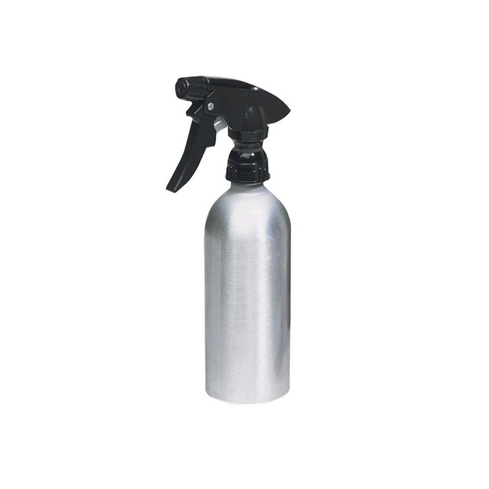 InterDesign Metro Rustproof Aluminum Spray Bottle, Mist Sprayer 2 oz. - Brushed/Black 71202