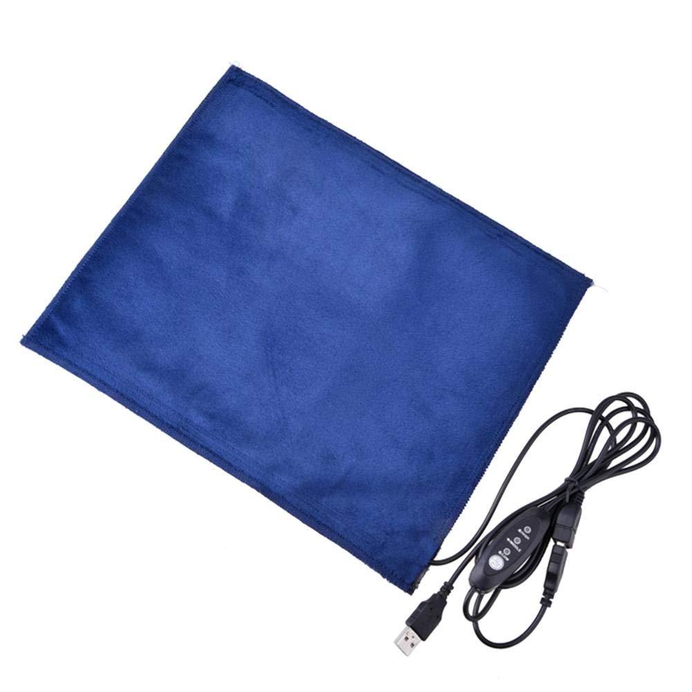 Reptile Heat Pad USB-Aufladung Heizung Pet Warmer Mat Temperatur beheizt Kontrolle Timing Warm 30 Minuten Anti-Scratch-Reptilien Decke fü r Pet Winter Geschenk Keptfeet