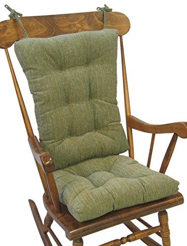 Klear Vu The Gripper Non-Slip Polar Jumbo Rocking Chair Cushions, Jade