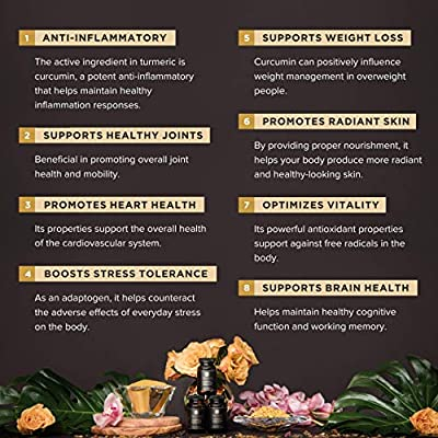 TRUVANI - Organic Turmeric Curcumin Supplement & Turmeric Root Powder - with Black Pepper for Improved Absorption | Anti-inflammatory, Joint Support & Stress Relief Supplement - 90 Vegan Tablets