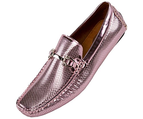 Amali Mens Perforated and Embossed Driving Moccasin Loafer Styles Rila, Regan