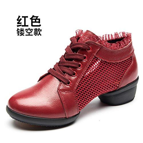 Sapage rouge Wuyulunbi@ Avec des chaussures de danse Chaussures de danse de plancher Trente-neuf