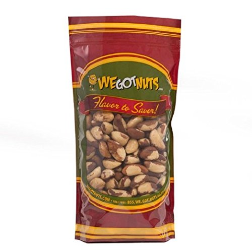 Brazil Nuts - 1 Pound, Whole, Shelled, Raw, Natural, We Got Nuts (Woodstock Dates)