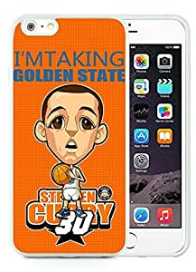 New Custom Design Cover Case For iPhone 6 Plus 5.5 Inch Golden State Warriors Stephen Curry 9 White Phone Case