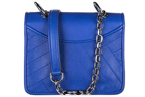 Tory Burch borsa donna a spalla shopping in pelle nuova alexa mini blu
