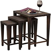 Best Selling 3-Wicker Nesting Tables