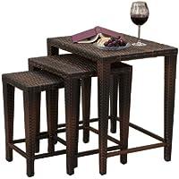 Best Selling 3-Wicker Nesting Tables