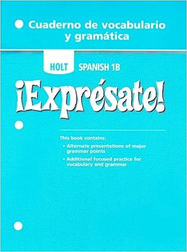Ebook para la teoría de la computación descarga gratuita Holt Spanish 1B: Expresate! Cuaderno de Vocabulario y Gramatica (Holt Spanish 2006) PDF MOBI 0030743761