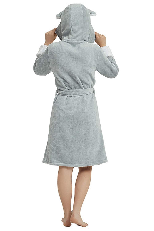 Landove Peignoir Eponge a Capuche Femme Homme Couple Pyjama Animaux Manteau de Bain Mignon Robe de Chambre Manche Longue V/êtements de Nuit Fantaisie Animal Cosplay Costume Bathrobe Nightgown