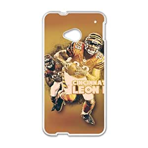 Cincinnati Bengals HTC One M7 Cell Phone Case White SVD_543241