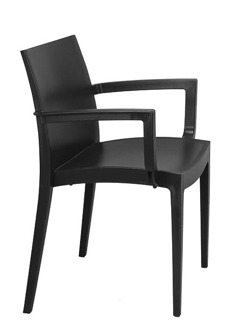 Lote de 2 sillón MAZ Resina Color Antracita. Silla con ...