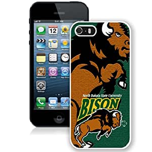 Beautiful Designed With NCAA Big Sky Conference Football North Dakota 9 Protective Cell Phone Hardshell Cover Case For iPhone 5S Phone Case White