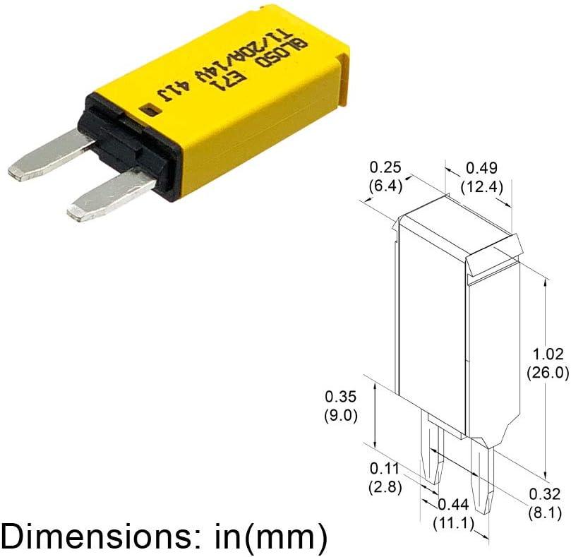 10A - 3 Pack Mini ATM Circuit Breakers GLOSO E71 Auto Reset T1