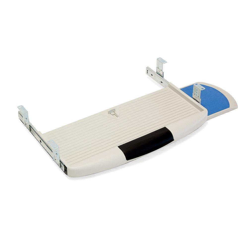 Emuca 3196621 Sliding Underdesk Keyboard Platform with Auxiliar Mouse Tray, Grey