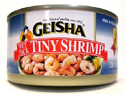 Geisha Wild Caught Tiny Shrimp (Pack of 4 Cans) Dry Weight 4 oz Each ()