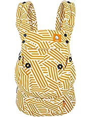 Baby Tula Explore Baby Carrier - Sunset Stripes, Yellow/white,TBCA6G104
