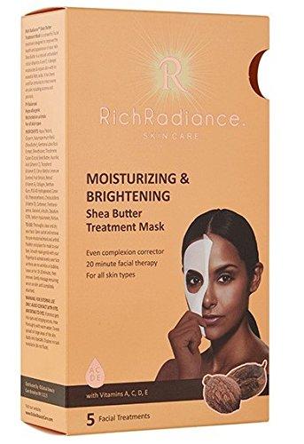 Rico Radiance cuidado de la piel hidratante & Brightening Manteca de Karité cara Tratamiento maskwith Vitaminas