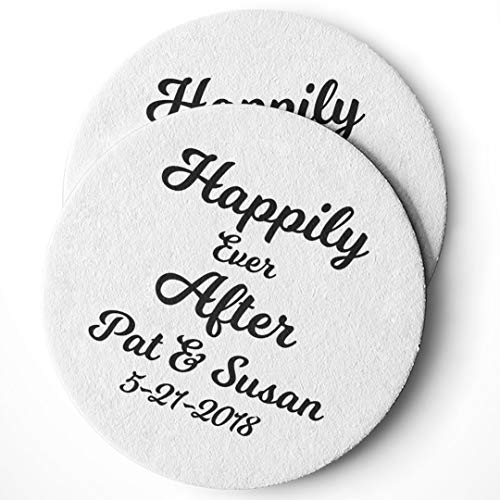 - Personalized Wedding Drink Coasters Set of 25 - Custom Wedding Favors - Absorbent - Monogram