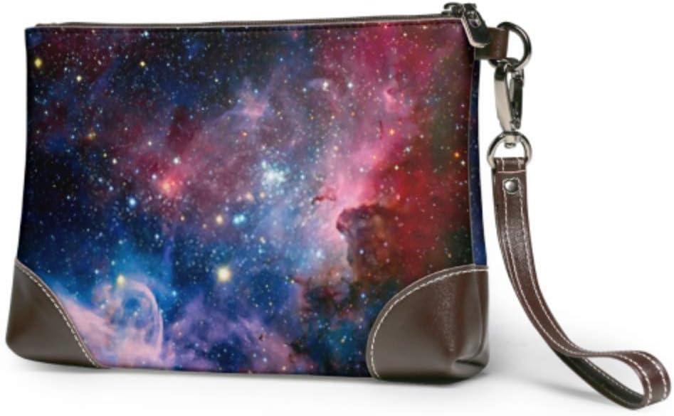 Imagen de Bolso de Pulsera JHGFG Nebulosa de Carina Elementos de luz infrarroja Pulsera de Cuero Cartera de Embrague para Mujer Cartera de Embrague Smartphone Monedero de Pulsera