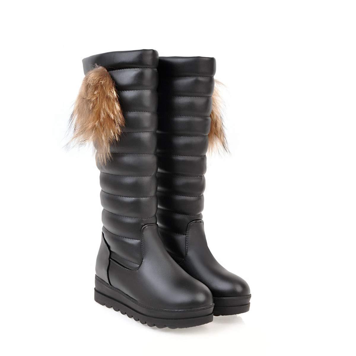 33837a27bb749 Damen Schnee Stiefel Winter Warm Quaste Plattform der Wade Stiefel ...