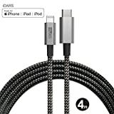 iDARS USB-C to Lightning Cable 4ft MFi Certified Nylon Braided Fast Charging Cord Compatible for iPhone Xs/XS Max/XR/X/8/8 Plus, iPad Pro,Supports Power Delivery and Type-C PD Chargers(4ft, SpaceGray)