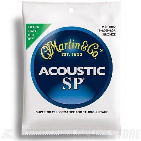 Martin MSP4000 - Juego de cuerdas para guitarra acústica de fósforo/bronce