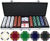 13.5g 500pc Triple Striped Clay Poker Chip Set (Small Image)