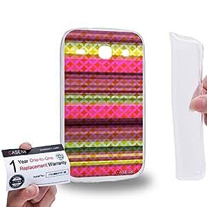Case88 [Samsung Galaxy Core i8260 / i8262] Gel TPU Carcasa/Funda & Tarjeta de garantía - Art Carpet And Tapestry Raspberry