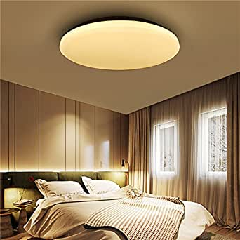 12W 1000LM LED Flush Mount Ceiling Light Round Ultrathin Fixture for Kitchen Bedroom AC110V-240V (Color Pure white)