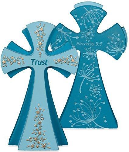 Angelstar 73155 Trust Gem Series Jewels of Faith Cross Figurine by Angelstar by Angel Star