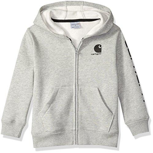 - Carhartt Boys' Little Long Sleeve Sweatshirt, Heather Grey, 7