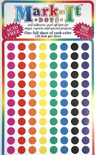 Map Dot Stickers Assorted Colors Diameter Amazonca Home - Package of map colors