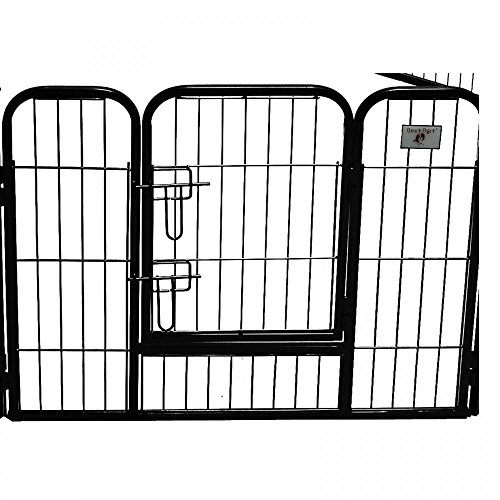 bestpet heavy duty pet playpen dog exercise pen cat fence