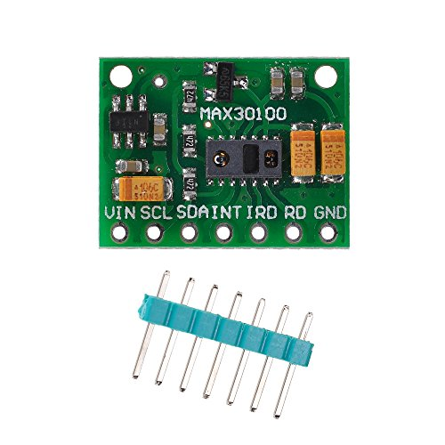 (Lysignal MAX30100 Pulse Oximeter Heart Rate Sensor Module for Arduino for Wearable Health Fitness Assistant Devices Medical Monitoring Devices)
