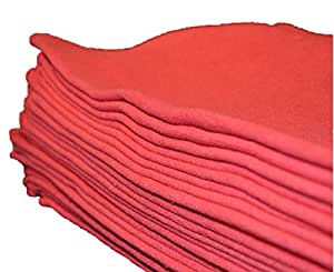 Egyptian Towels Auto Shop Towels, 100 Pack, Red Shop Towels,