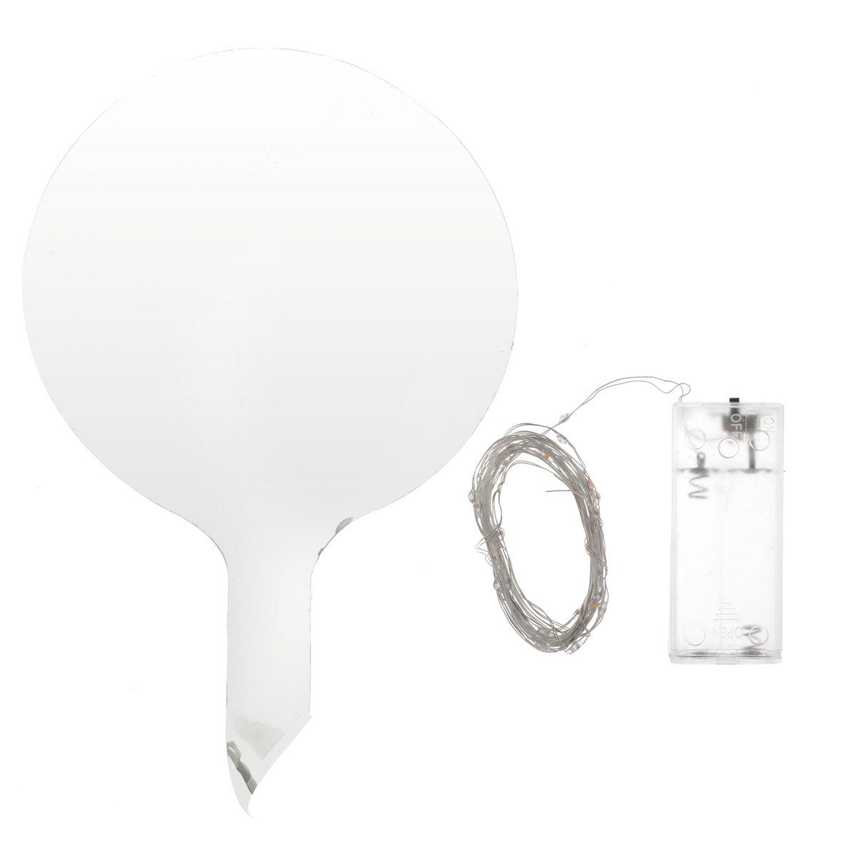 YiZYiF LED Light Up Boboバルーン透明18インチ光グローバブルバルーンでカラフルな文字列ライト誕生日パーティーウェディングデコレーション用電池式   B07F87P852
