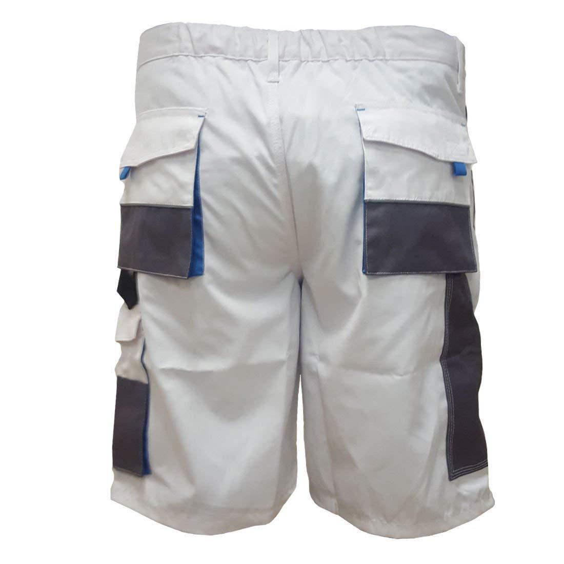 S Arbeitshose Kurze Hose Kurz Bermuda Shorts Orange Grau Gr XXXL