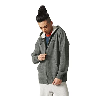 Adidas Originals Men S Premium Essentials Full Zip Hoodie Grey