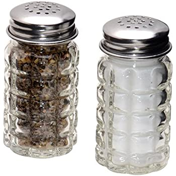 retro style salt and pepper shakers with stainless tops 2 - Shaker Restaurant 2015